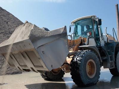 Eigene Sand- und Splittproduktion